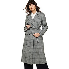 Phase Eight - Multicoloured carmel check trench coat