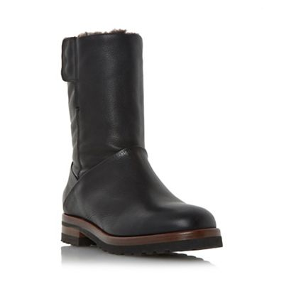 Dune - Black 'Rayner' warm lined calf boots