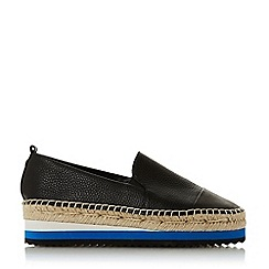 Dune - Black Leather 'Glympse' Espadrilles Loafers