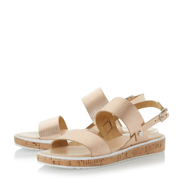 Dune Rose 'Logo' cork sole flatform sandals rOFrU7wq