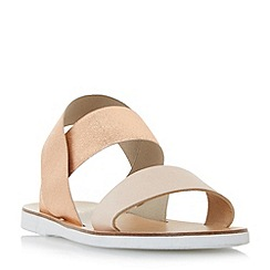 Dune - Multicoloured 'lacer' elasticated strap flat sandals
