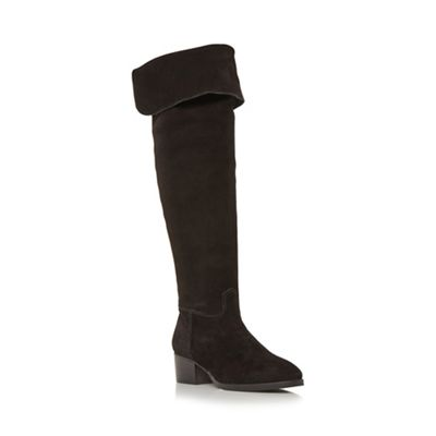 Dune - Black 'Tangent' over the knee slouchy boot
