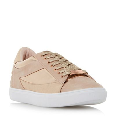 Head Over Heels by Dune - Rose 'Elize' mixed material lace up trainers