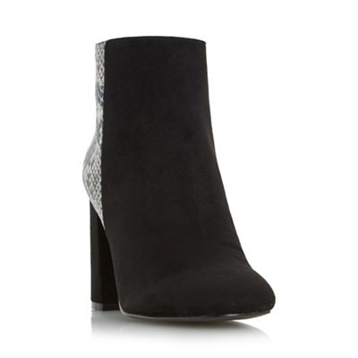Head Over Heels by Dune - Natural 'Odessa' heeled ankle boots