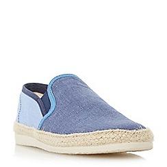 Bertie - Blue 'Fondant' chambray espadrille shoe