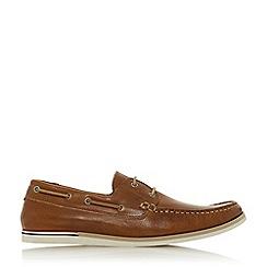 Dune - Tan 'Blainess' Nubuck Boat Shoes