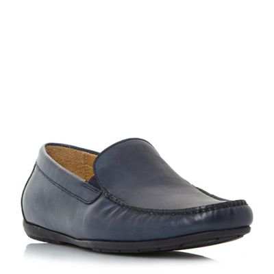 Dune - Navy 'Bob di' slip on loafers