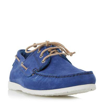 Dune - Blue 'Belize' lace up boat shoes