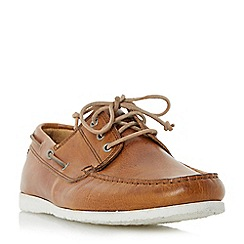 Dune - Tan 'Belize' lace up boat shoes