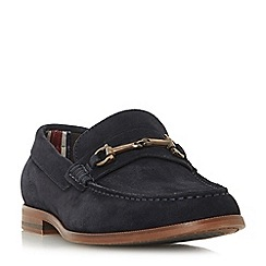 Dune - Navy 'Baritone' snaffle detail loafers