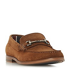 Dune - Tan 'Baritone' snaffle detail loafers