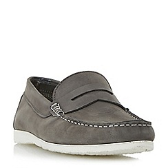 Dune - Grey 'Breeze' unlined penny loafers