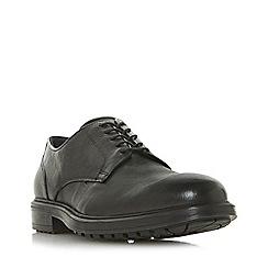 Dune - Black 'Pecorino' chunky sole Gibson shoes