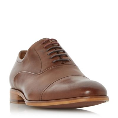 Dune - Tan 'Padstow' soft leather toecap oxford shoes