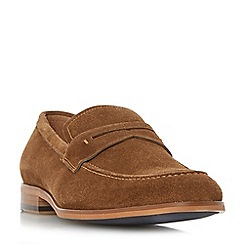 Dune - Tan 'Ruling' smart penny loafers