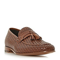 Dune - Tan 'Paolo' woven tassel loafers shoes