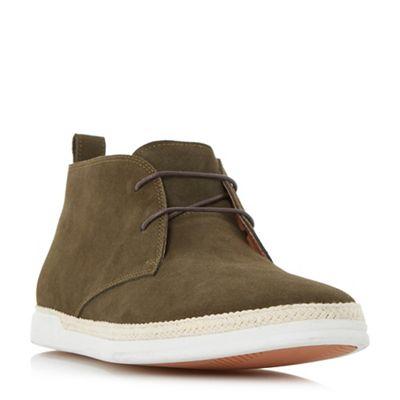 Dune - Khaki 'Cantero' espadrille trim chukka boot