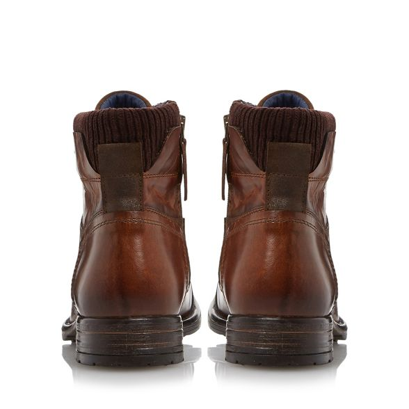 Dune cuff up padded boot leather lace 'Calabash' Tan TqtxrT