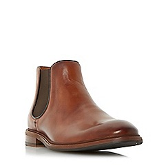 Dune - Tan 'Mencia' natural sole leather chelsea boot