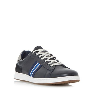 Dune - Navy 'Tag' striped webbing trainers trainers trainers 86d771