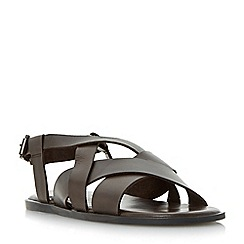 Dune - Brown 'Ionian' multi strap sandals