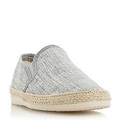 Dune - Grey 'Flipper' canvas espadrille shoes