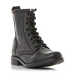 Steve Madden - Black leatherCharrie biker boots