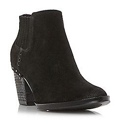 Steve Madden - Black suedeTinker mid block heel ankle boots