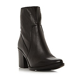 Steve Madden - Black leatherPeaches block heel ankle boots