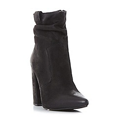 Steve Madden - Black leather 'Ruling' high block heel ankle boots