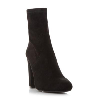 Steve Madden - Black 'Editt' high block heel ankle boots