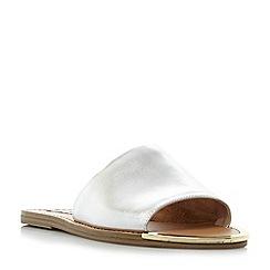 Steve Madden - Silver leather 'Kidd' sandals