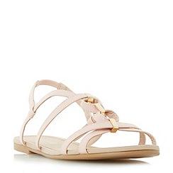 Head Over Heels by Dune - Pink 'Lavindar' loop and hardware detail flat sandals