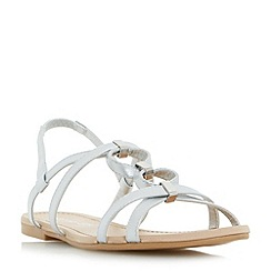 Head Over Heels by Dune - Silver 'Lavindar' loop and hardware detail flat sandals