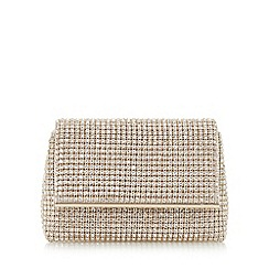 Dune - Gold 'Everlina' diamante embellished clutch bag