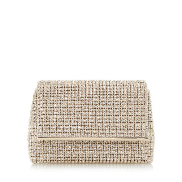 Gold bag clutch embellished diamante 'Everlina' Dune gF4nHBg