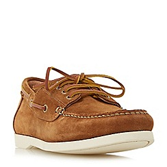 Dune - Tan 'Boater' classic boat shoes
