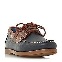 Dune - Navy 'Boater' classic boat shoes