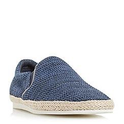 Bertie - Blue 'Fergie' knitted espadrille slip on shoes
