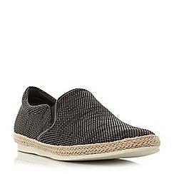 Bertie - Grey 'Fergie' knitted espadrille slip on shoes