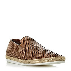 Bertie - Tan 'Freckles' woven espadrille slip on shoes
