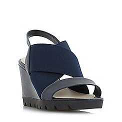 Roberto Vianni - Navy 'Kelsall' elasticated cross strap wedge sandals