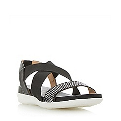 Roberto Vianni - Black 'Linton' elasticated cross strap sporty sandals