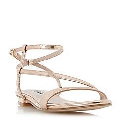 Dune - Rose 'Miss' asymmetric strap flat sandals