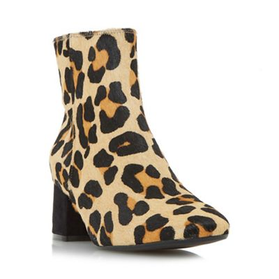 Dune - Multicoloured 'Packham' low block heel ankle boots