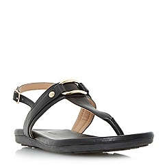 Roberto Vianni - Black 'Larner' sporty sole toe post sandals