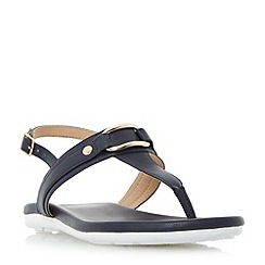 Roberto Vianni - Navy 'Larner' sporty sole toe post sandals