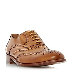 Dune - Tan 'Prospero' leather sole oxford brogue shoes