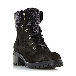 Dune - Grey 'Rochelle' warm lined lace up ankle boots