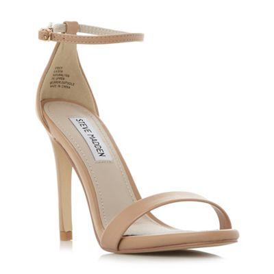 Steve Madden - Natural 'Stecy' high stiletto heel ankle strap sandals